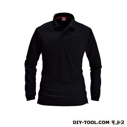 長袖ポロシャツ ブラック M (103)