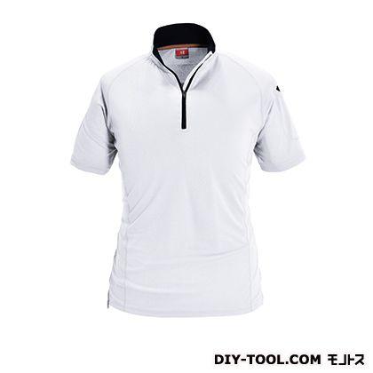 半袖ジップシャツ ホワイト M (415)