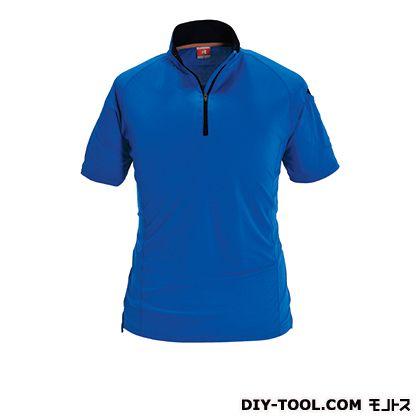 半袖ジップシャツ サーフブルー M 415