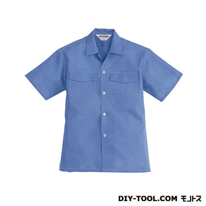 バートル アロハシャツ ブルー L 7200A