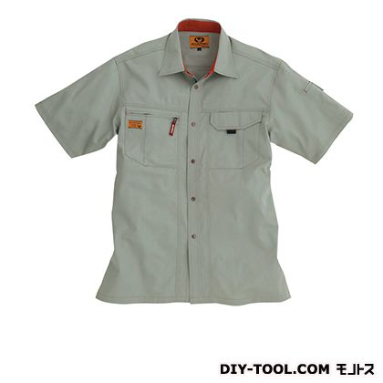 バートル 半袖シャツ グレージュ M 8025