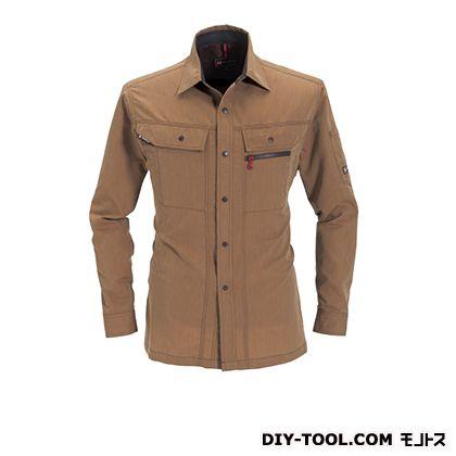 バートル 長袖シャツ キャメル L 8063