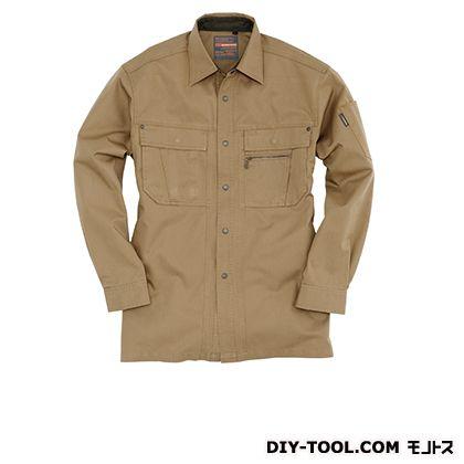 バートル 長袖シャツ キャメル L 8083