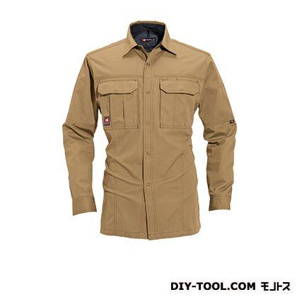 バートル 長袖シャツ キャメル L 8093