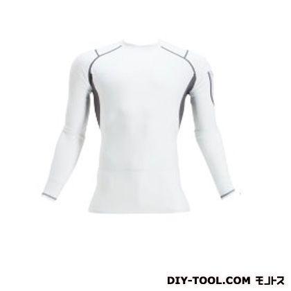 クールフィッテッド 長袖Tシャツ ホワイト L (4032)