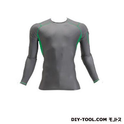クールフィッテッド 長袖Tシャツ グレー L (4032)