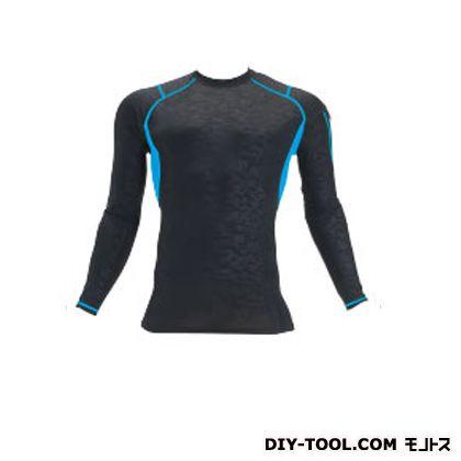 クールフィッテッド 長袖Tシャツ カモフラブラック XL (4032)