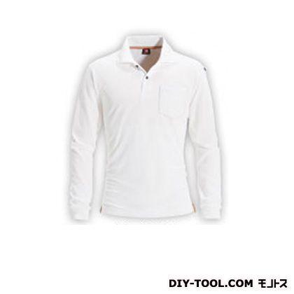 長袖ポロシャツ ホワイト LL 505