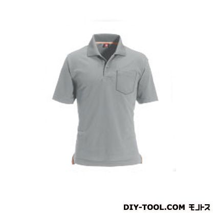 半袖ポロシャツ ミドルグレー LL (507)