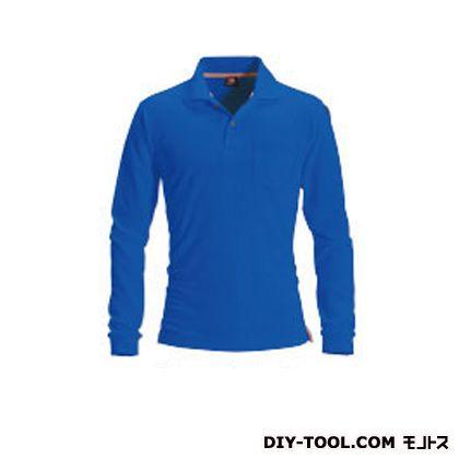 長袖ポロシャツ ロイヤルブルー 3L (505)