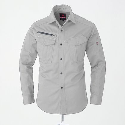 長袖シャツ シルバー M 5505
