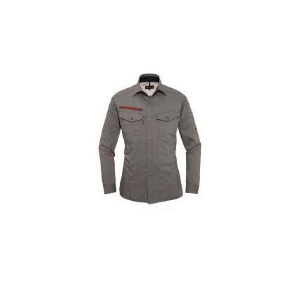 長袖シャツ オリーブグレー 3L (7045)