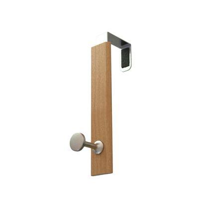 ドアシングルフック ナチュラル W×H×D(mm):26×145×76 MR476 1 ヶ