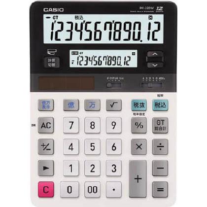 カシオ ツイン液晶電卓 ミエミエくん デスクタイプ DV220W 1個   DV220W 1 個