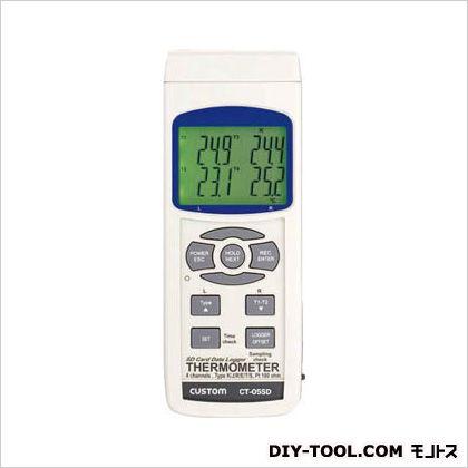 データロガーSDシリーズ 4チャンネル温度計 白 W68×H177×D45mm CT-05SD