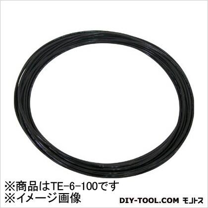 TEタッチチューブ 黒 6mm/100m TE6100