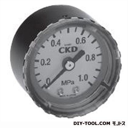 セフティマーク付圧力計  幅×奥行×高さ:42.5×44×42.5mm G40D-6-P10