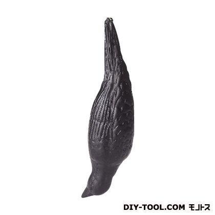 コンパル 防鳥にせカラス 黒 全長33.8cm