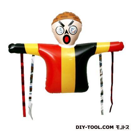 コンパル 防鳥・かかしくん 赤×黄×黒 H60cm×W81cm