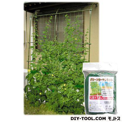 グリーンカーテンネット 1.8×2.7m グリーン 180cm×270cm