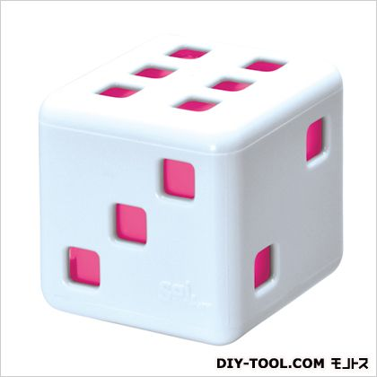 サイ サイピュア 芳香剤 ホワイト/ピンク H55×W55×D55(mm) G797