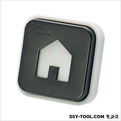 カーメイト サイ アイコン エア サイムスク 芳香剤 ブラック/グレー H41×W41×D33(mm) H402