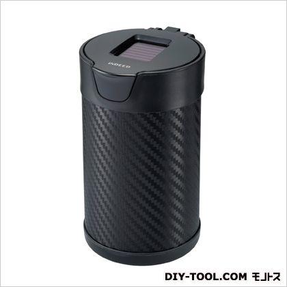 灰皿 ヒット L ソーラー付 カーボン調ブラック ブラック H96×W69×D81(mm) DZ176