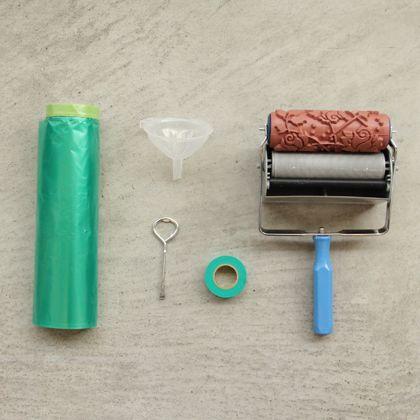 パターンローラーと周辺道具の簡単パターン作成入門セット ローズガーデン