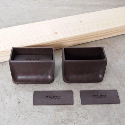 賃貸でも簡単にできる壁面DIYキット(2×4材+ディアウォール) ダークブラウン  D-10 4 セット
