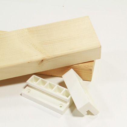2×4ジョイントと2×4材のセット オフホワイト 1.2mX2本セット