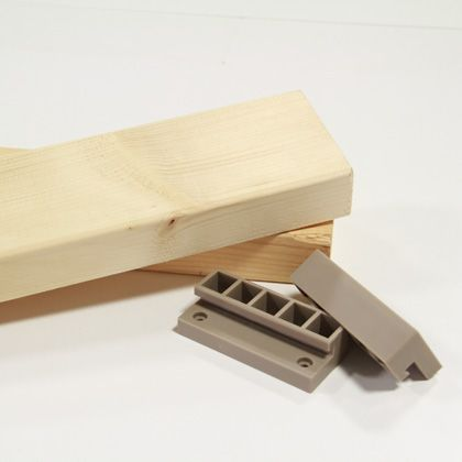 2×4ジョイントと2×4材のセット ナチュラルグレージュ(限定色) 1.2mX2本セット
