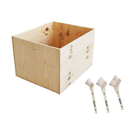 DIYで人気!りんご箱と刷毛のセット  幅×奥行×高さ:380×460×300(mm)