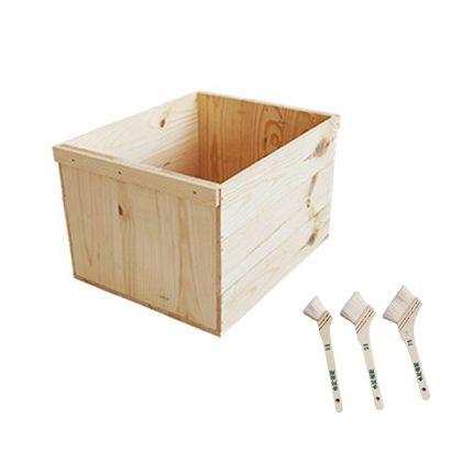 DIYで人気!りんご箱と刷毛のセット  幅×奥行×高さ:380×480×300(mm)