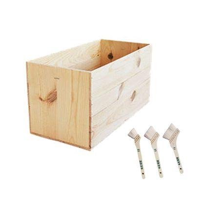 DIYで人気!りんご箱と刷毛のセット  幅×奥行×高さ:300×620×310(mm)