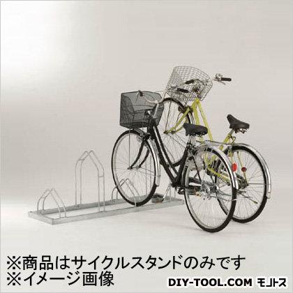 平置き自転車ラック前輪差込式サイクルスタンド6台収容ピッチ400   CSM6