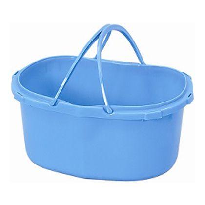 散布桶 ベルト付 ブルー 409×290×190Hmm容量14L 301413