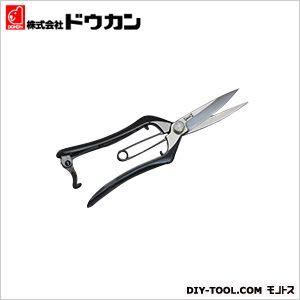 道灌作 鍛造芽切鋏 片刃型 金止(曲がり) 全長210mm (DK674)