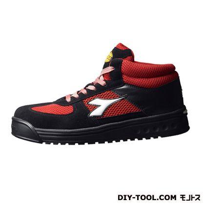 ディアドラ イーグレット 作業用靴 BLK+RED+WHT 23.5cm EG-231