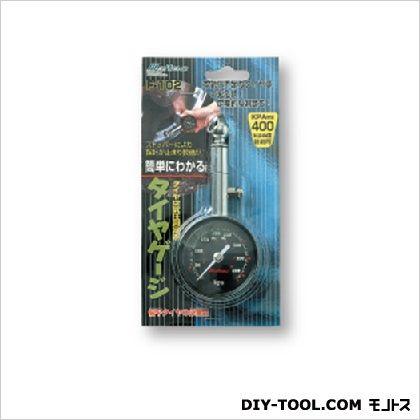 タイヤゲージ アナログ スチールタイプ 約52(W)×119(H)×27(D)mm (0301F-102)