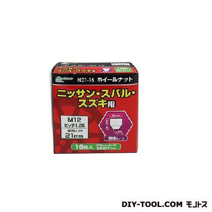 大自工業 ホイールナット 貫通 ピッチ1.25   N01-16 16 P