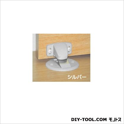 フラット戸当り マグネット式面付型 シルバー 6×6cm