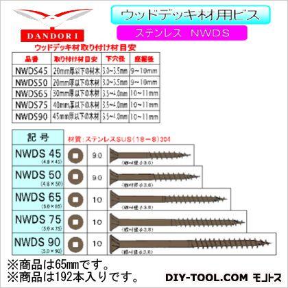 ウッドデッキ材用ビス NWDS 12号 65mm (448-D-150) 192本