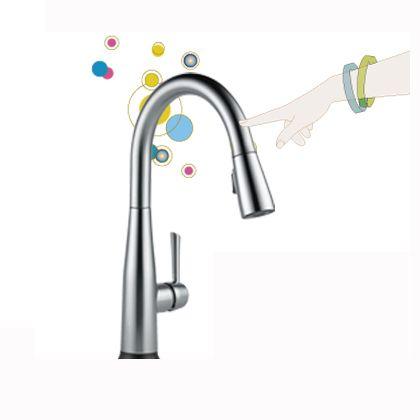 エッサ キッチン用タッチ水栓(プルダウン シャワー) アークティックステンレス  9113T-AR-DST