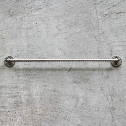 DIY FACTORY 異形ステンレス タオルハンガー  長さ38cm
