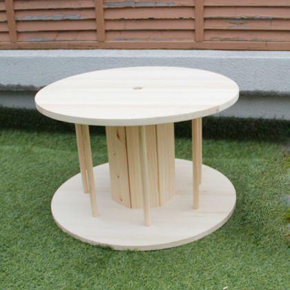 組立て簡単!木製ドラムキット(テーブル向けサイズ)  直径:600mm 高さ:370mm