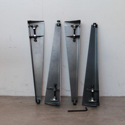 テーブル用アイアン脚 クランプタイプ 黒 脚の長さ410mm LR40-001 4 本セット