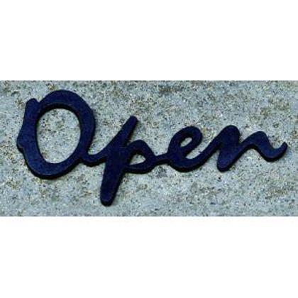 切文字「Open」 黒 W108×H40mm SL160BK
