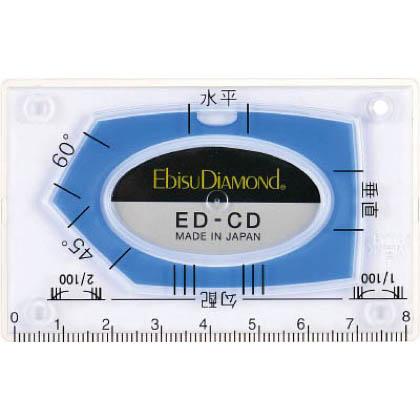 カードレベル(角度測定水平器) ブルー (ED-CDBL) 1枚
