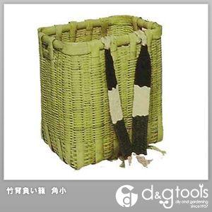 竹製背負い籠(かご) (肩紐付) 角小