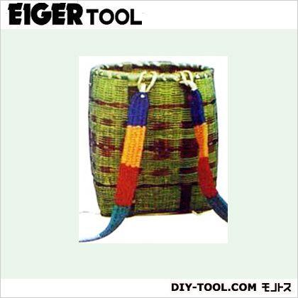 アイガーツール 竹製背負い籠(かご) (肩紐付) 丸大